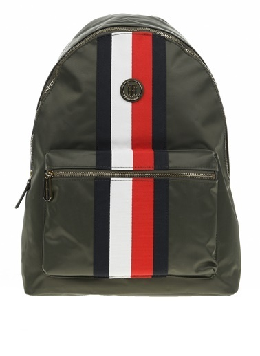 Tommy Hilfiger Kadın Poppy Backpack Corp Sırt Çantası AW0AW07283 Renkli